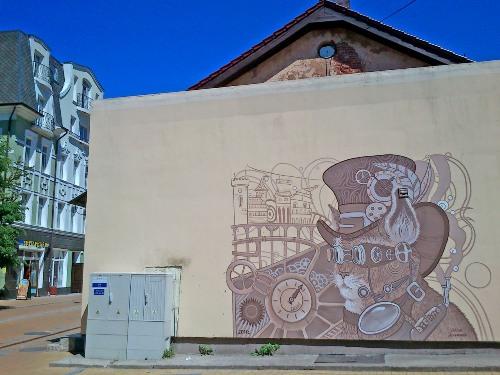 граффити на курортном проспекте